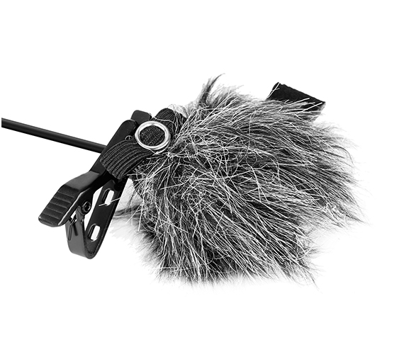 BY-B05 Fur Windshield for Lavalier Microphones (Grey)
